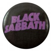 Black Sabbath - 'Purple Logo' Button Badge